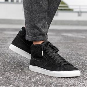 🌸 NIKE Blazer Mid Black Suede Sneakers Shoes New